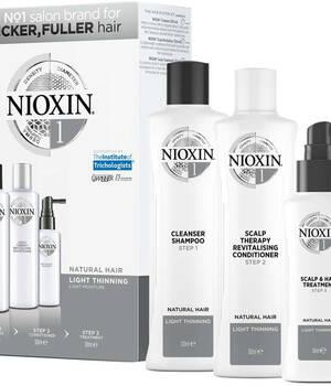 3-СТУПЕНЧАТАЯ СИСТЕМА NIOXIN №1 (150 мл) для натуральных волос с тенденцией к истончению